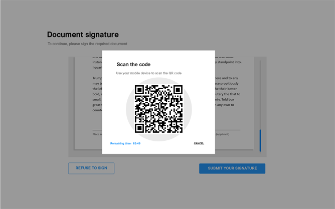 SignPad for online documents